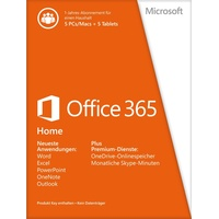 Office 365 Home Premium 5 User PKC DE Win Mac